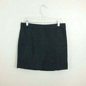Gap//Black & Blue Wool Mini Skirt
